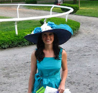 Christina Olivares at the Belmont