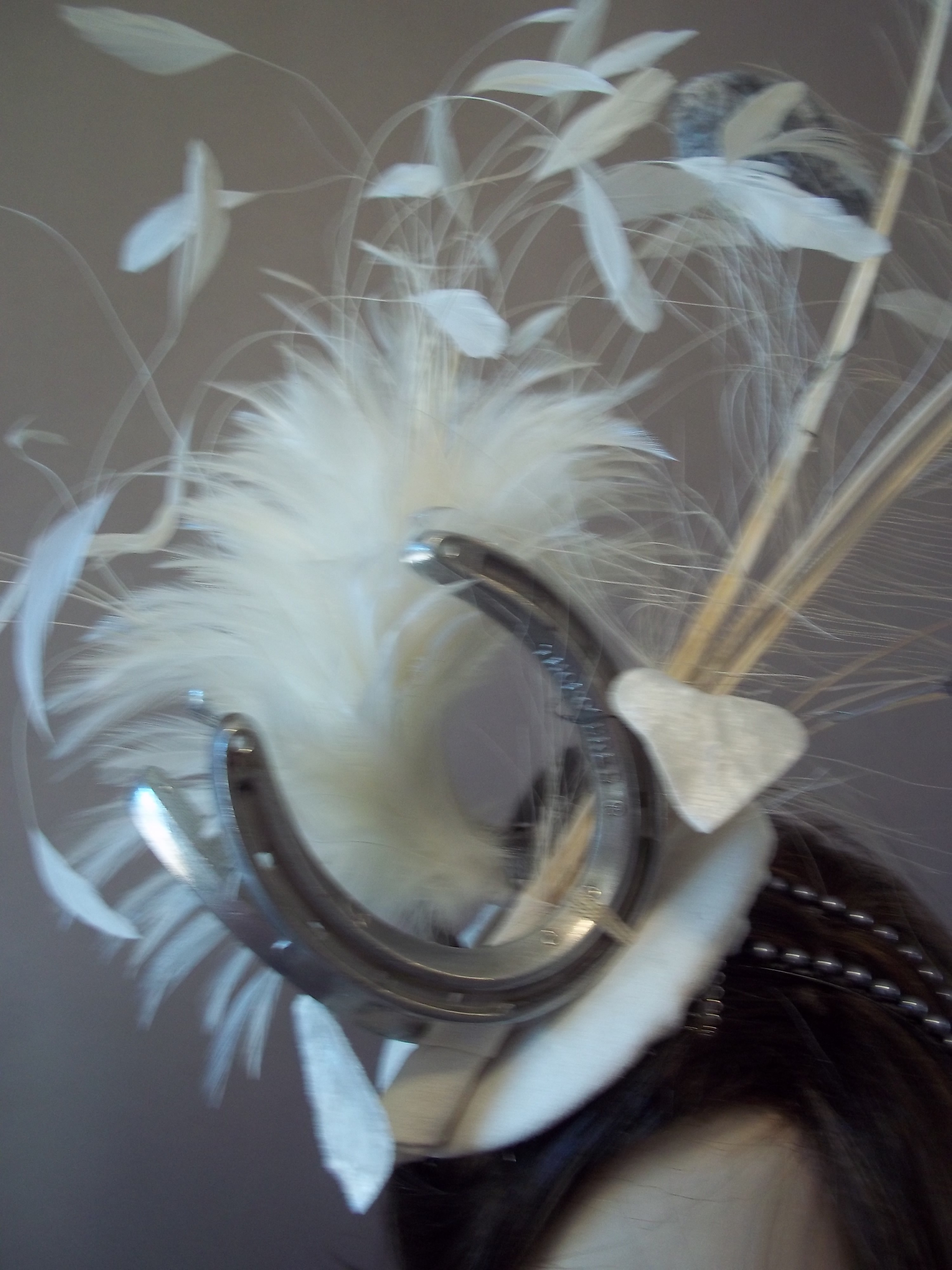 f3cdf60e495 Probably the wildest fascinator that I have ever done. Breeder s Cup  fascinator featuring horse shoes.