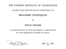 Polly-Singer-Milliner-Fashion-Institute-of-Technology-Degree