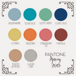 2015 Spring Pantone Colors