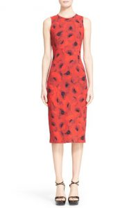 Michael Kors Poppy Print Sheath Dress