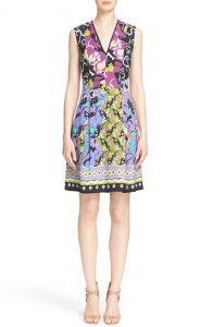 Etro Floral Print V Neck Dress
