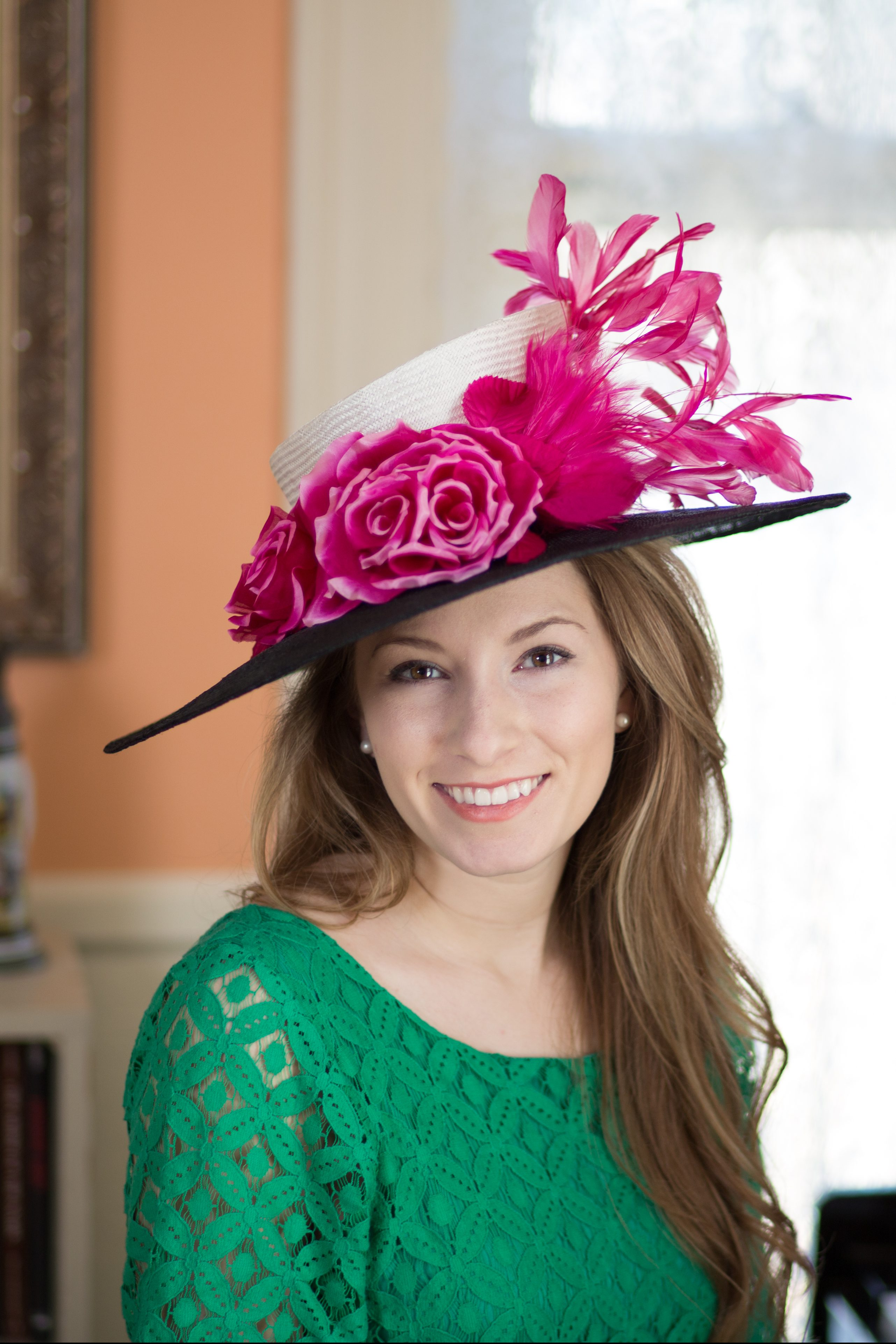 2e666d97ff3 Anne B. - Derby Hats by Polly Singer Couture Hat