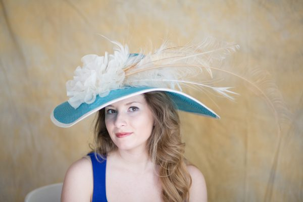 Oceania Hat by Polly Springer Perfect for Spring Summer, Kentucky Derby