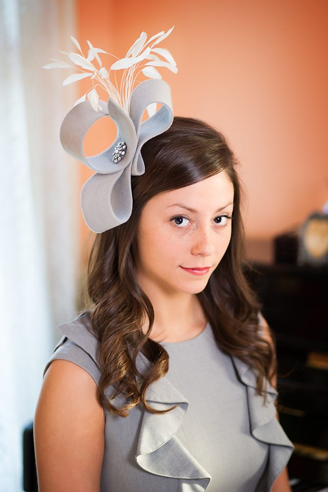 0c3531bc740 Shades of Gray - Derby Hats by Polly Singer Couture Hat