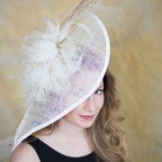Tia 2 – Bridal, Fascinator, KY Derby, Spring Summer
