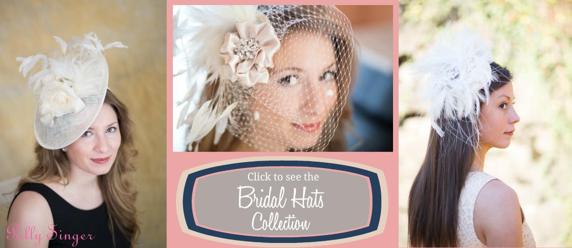 Ladies Hats & Fascinators - Polly Singer Couture Hats & Veils