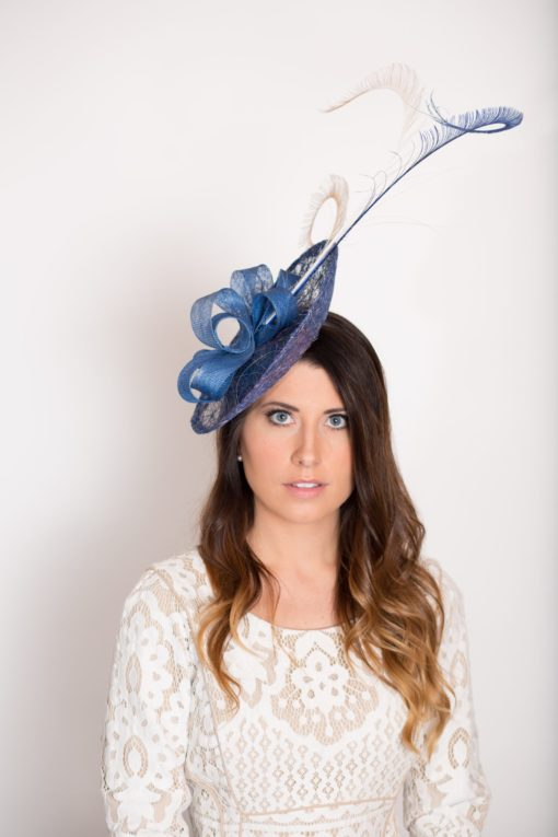 Callie Blue Saucer Hat for the KY Derby