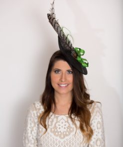 Kelly Black Feather Fascinator Ladies Hat