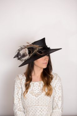 Victoria Black Royal Hat