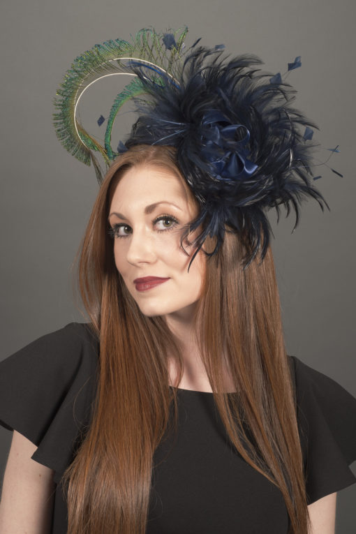Armitage Navy Peacock Fascinator