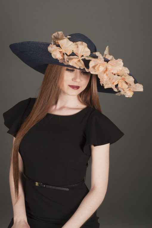 Yuki Upturned Navy Hat