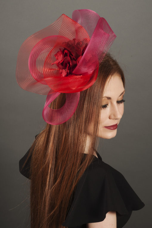 Rose Red Crin Fascinator