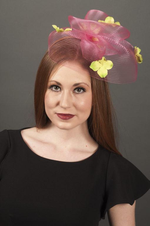 Christine Pink Petal Fascinator
