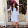 Sharon Blue Profile Hat