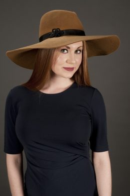 Autumn Brown Wool Fedora