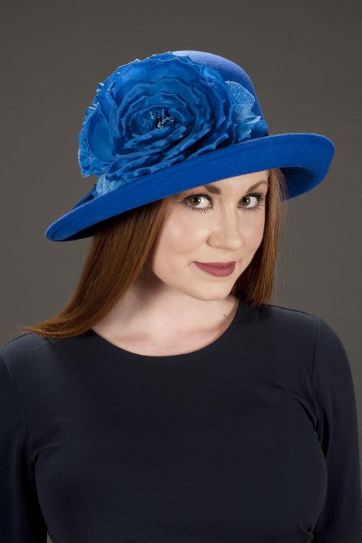 Christy Blue Downton Hat