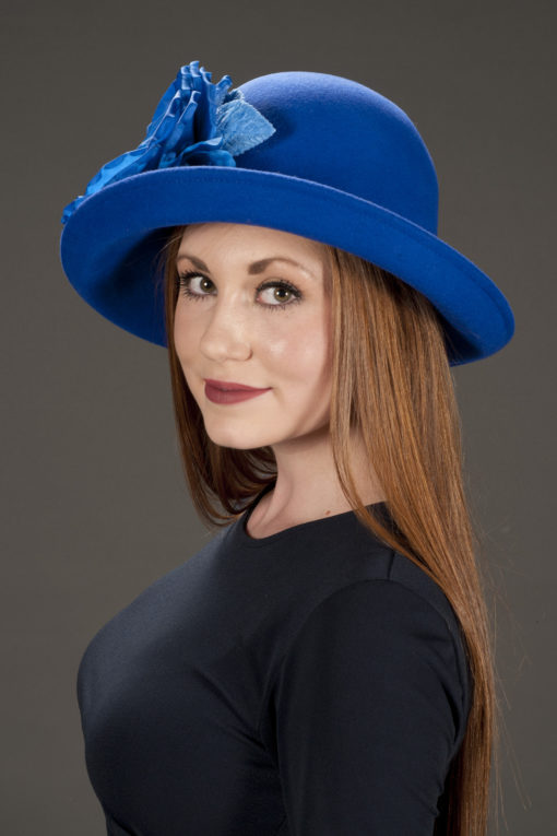 Christy Blue Upturned Hat
