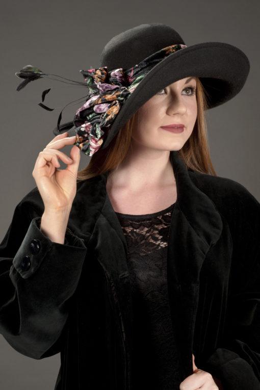 Debra Black Wool Hat