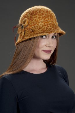 Fina Fall Cheetah Print cloche