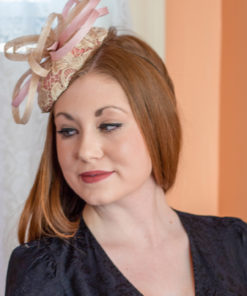 Florence Nightingale Pink and Ivory lace percher