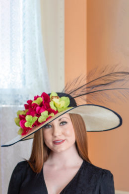 Jane Navy and Ivory Kentucky Derby Hat