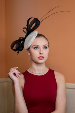 Rosa Parks Black and White Bow Percher for Royal Ascot