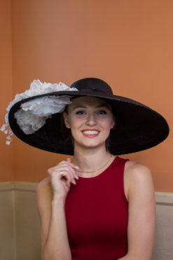 Vivien Black and White Kentucky Derby Hat