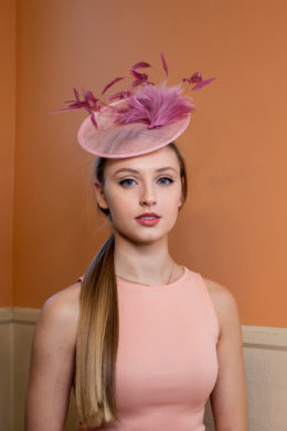 Harper Lee Pink Feather Kentucky Oaks Fascinator