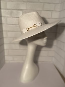 Helen White Panama Fedora Ladies Hat