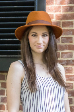 Orange Fedora With Brown Band
