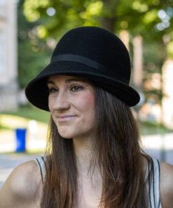 Virginia Black Cloche Hat
