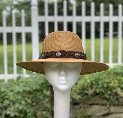 Mandy Fedora Tan Summer Fedora Hat
