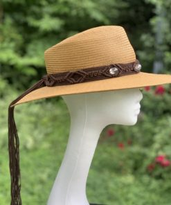 Mandy Summer Straw Fedora Ladies Hat