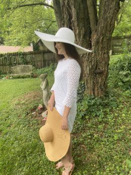 Shelby White Travel Oversize Sun Hat