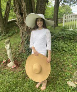 Shelby White Huge Sun Hat