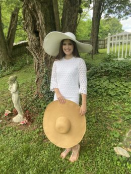 Shelby White Huge Sun Hat