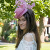 Serena Pink Fascinator with Feathers