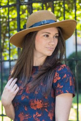 Sally Honey Brown Profile Wool Hat