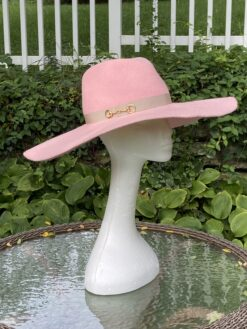 Autumn Blush Pink Wool Fedora