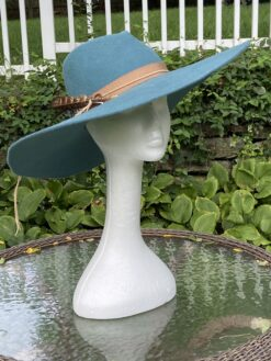 Autumn Cornflower Blue Wool Fedora