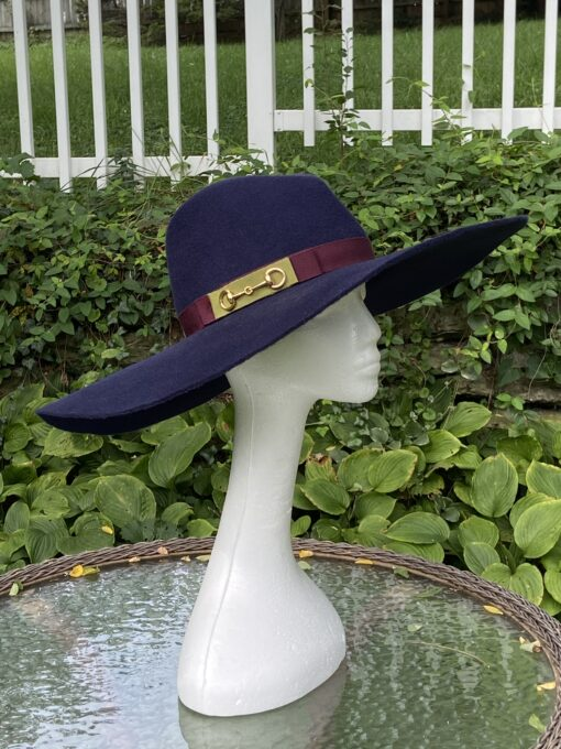 Autumn Navy Wool Fedora