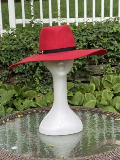 Autumn Red Wool Fedora