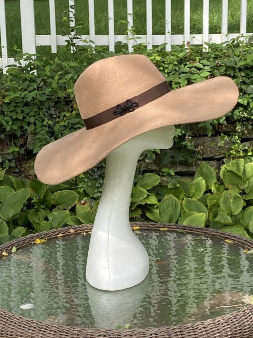 Autumn Tan Wool Fedora