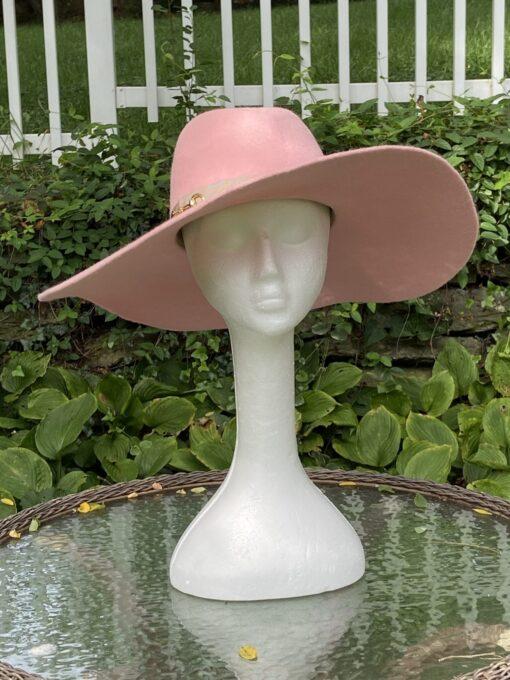 Autumn Blush Pink Wool Fedora