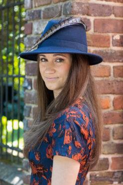 Navy Fedora Casual Hat