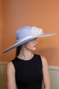 Emmeline Blue and White Summer Ladies Hat