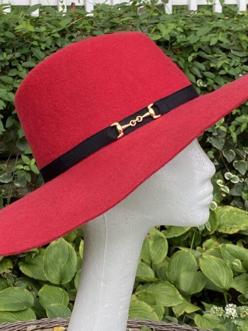 Autumn Red Wool Fedora
