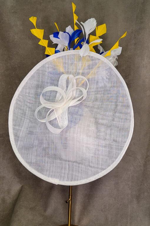 Amalfi White Saucer Hat