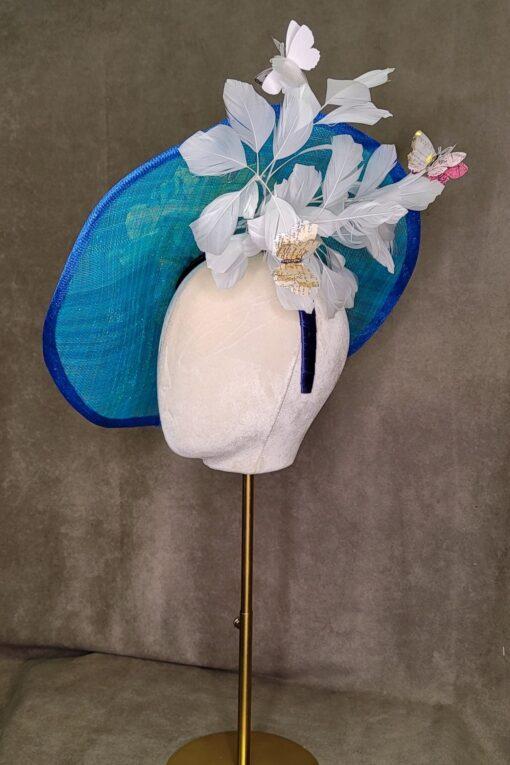 Blue Saucer Hat